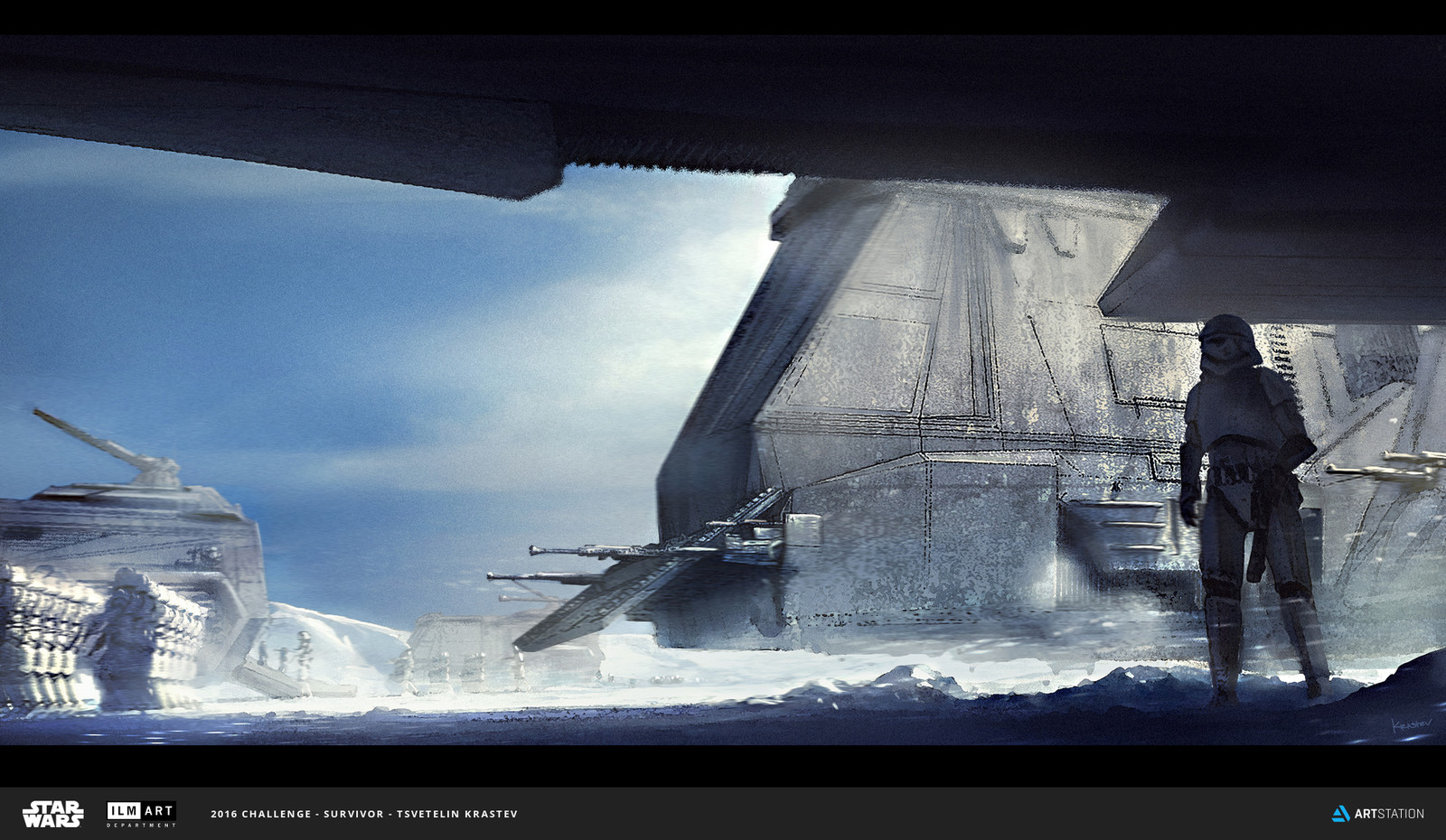 "ILM Art Department Challenge - The Ride ""Imperial Troops Transport """