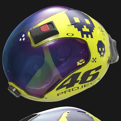VR46 Winter Space Test Helmet 2055