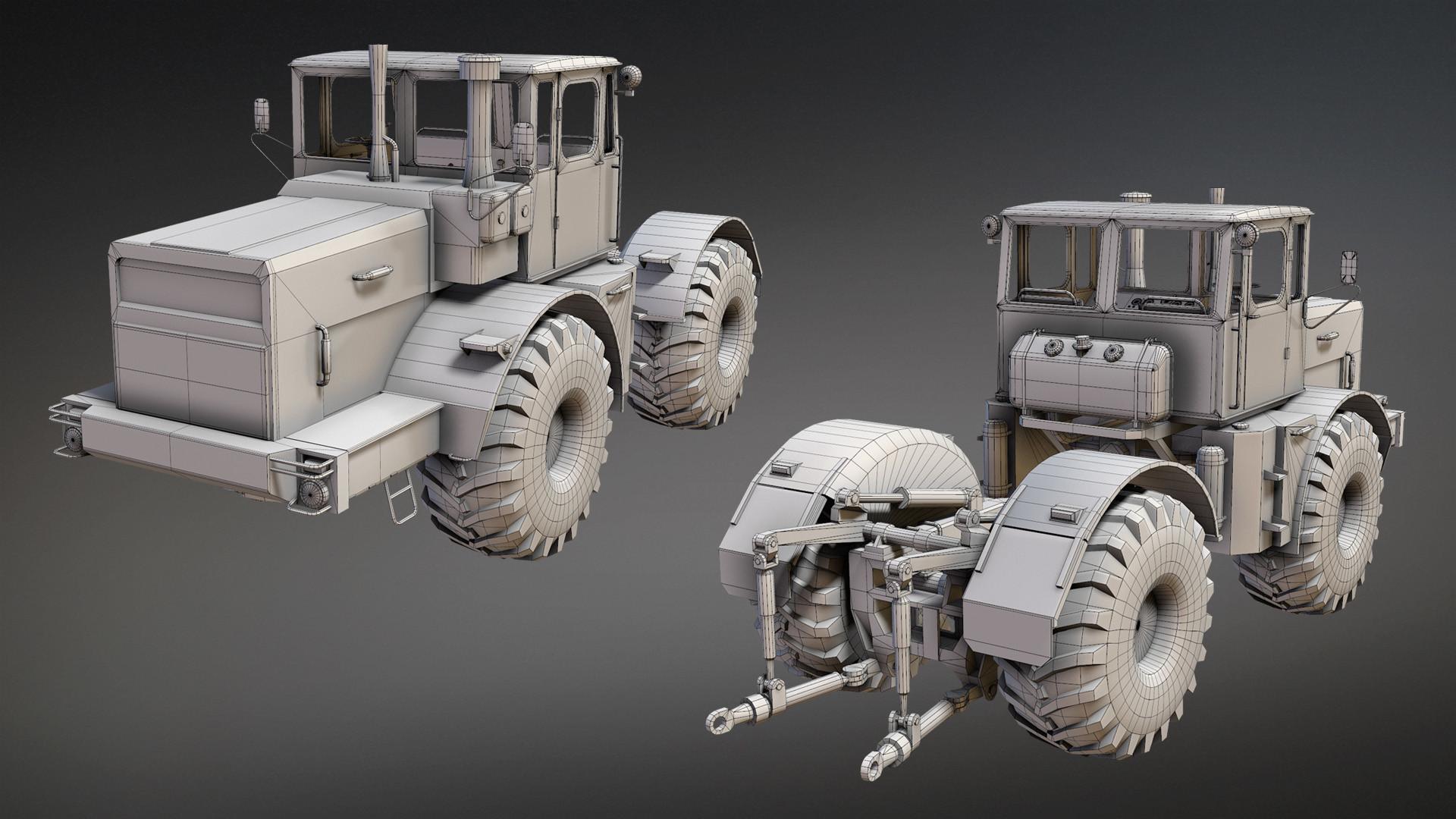 картинки трактора из бумаги необычная очень
