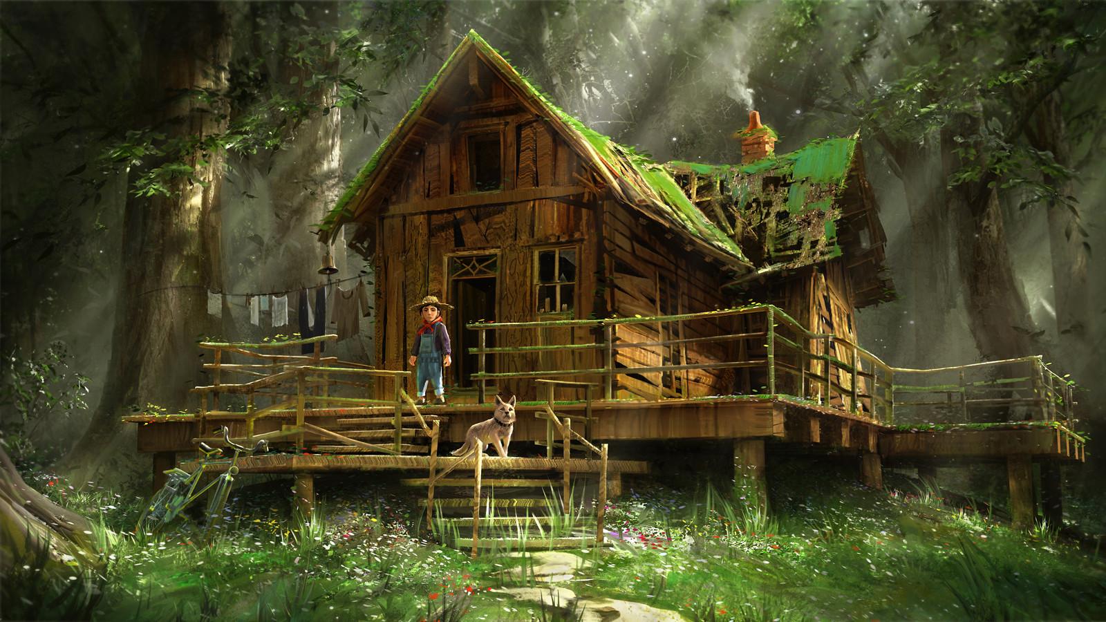 Artstation Forest Hut Quentin Mabille