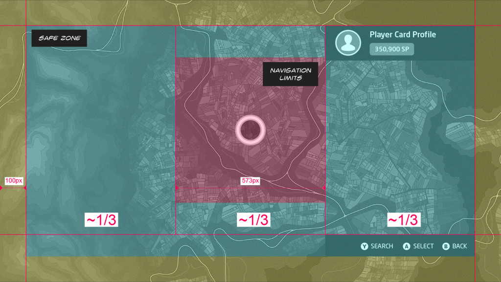 Map navigation concept wireframe.