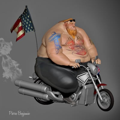 Pierre benjamin biker new render