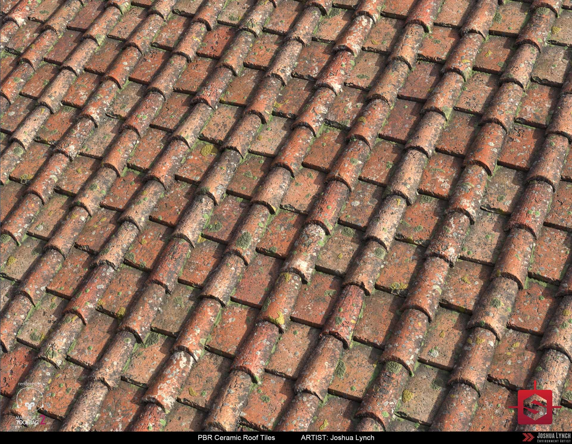 Joshua lynch pbr procedural ceramic roof tiles material study 02 joshua lynch roofing tiles 02 plane angle rev 03 layout comp josh lynch dailygadgetfo Image collections