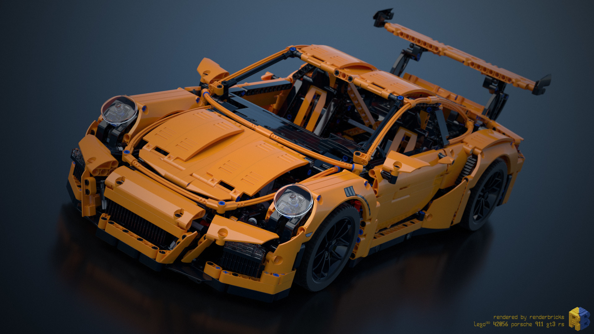 renderbricks lego technic 42056 porsche gt3 rs. Black Bedroom Furniture Sets. Home Design Ideas