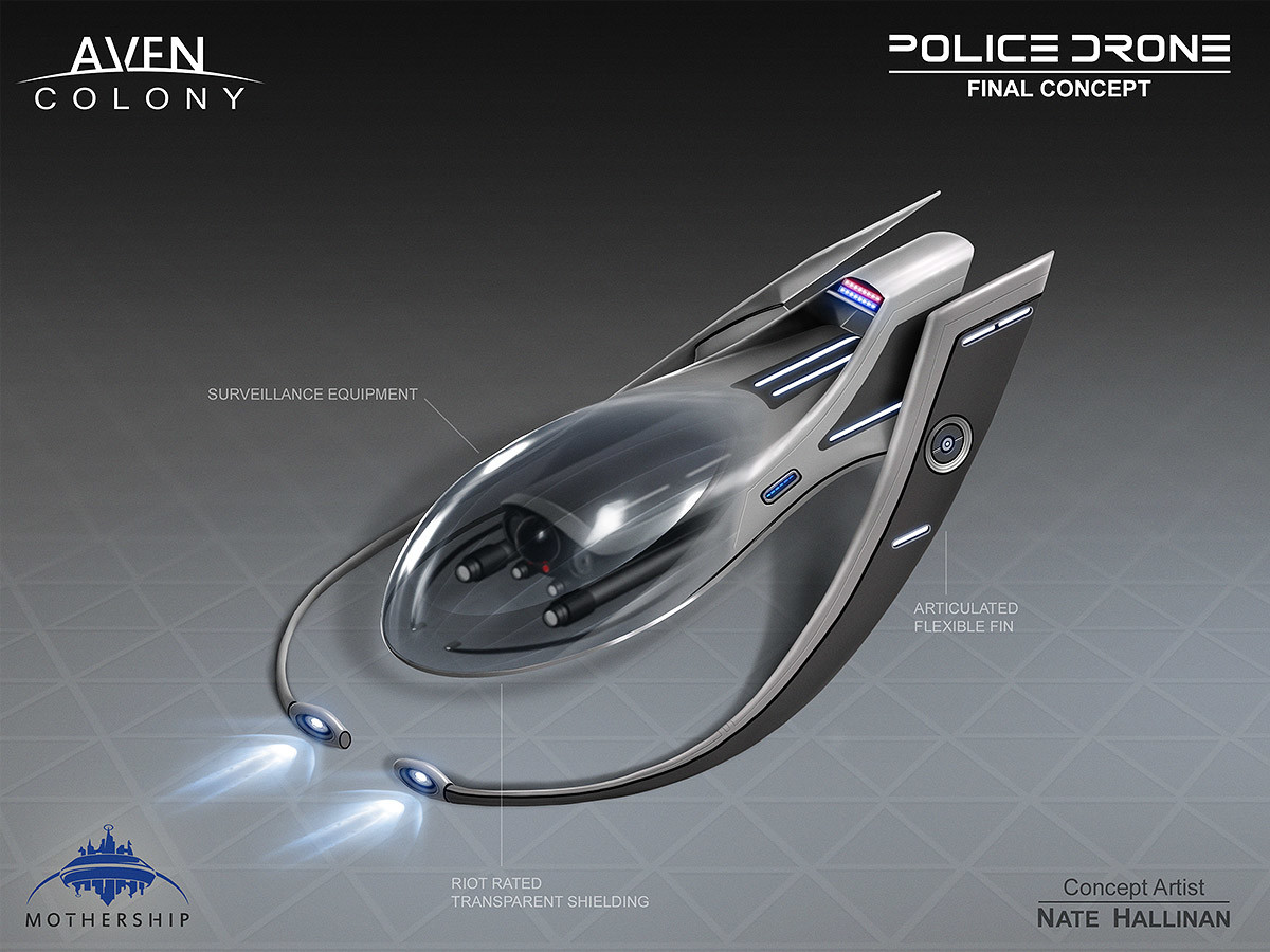 Nate hallinan ac drone police concept