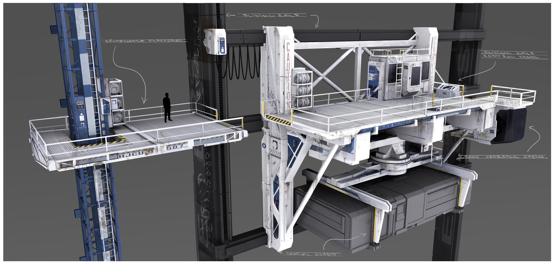 Mathieu latour duhaime crane platform