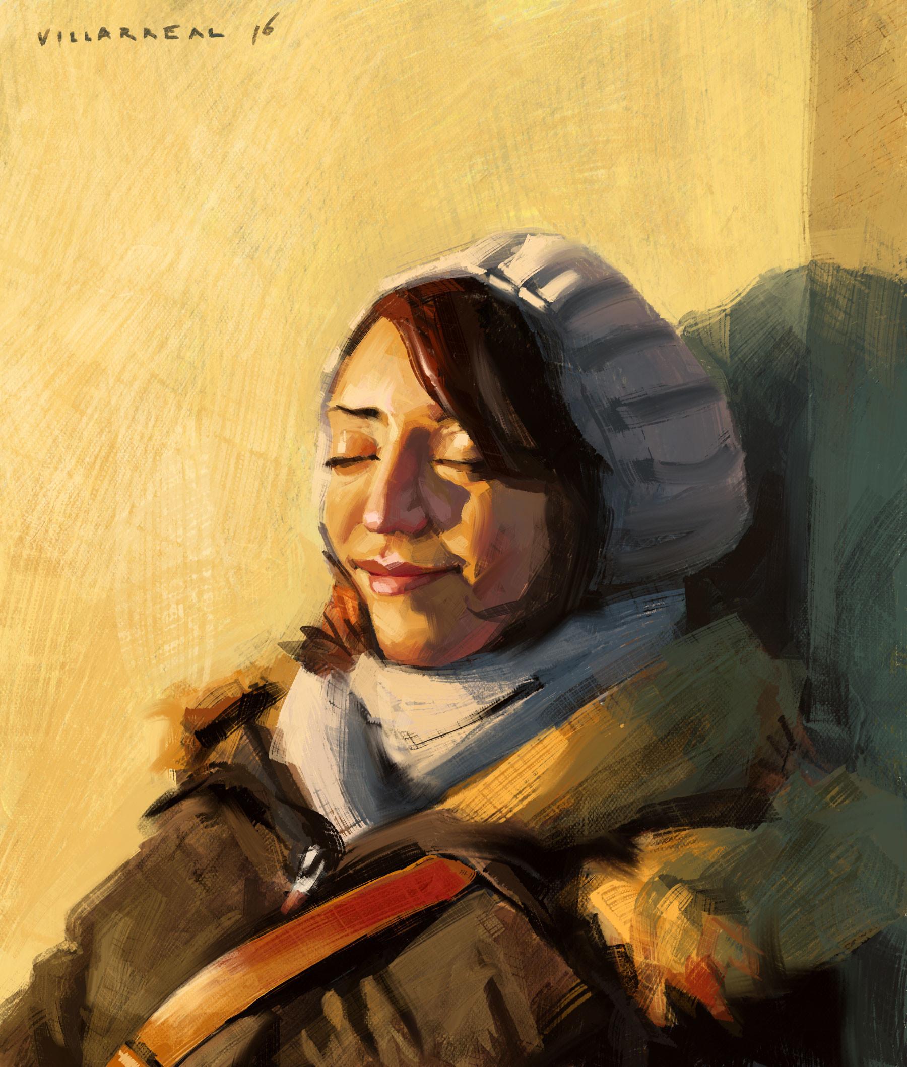 Arezo's Portrait. Digital.