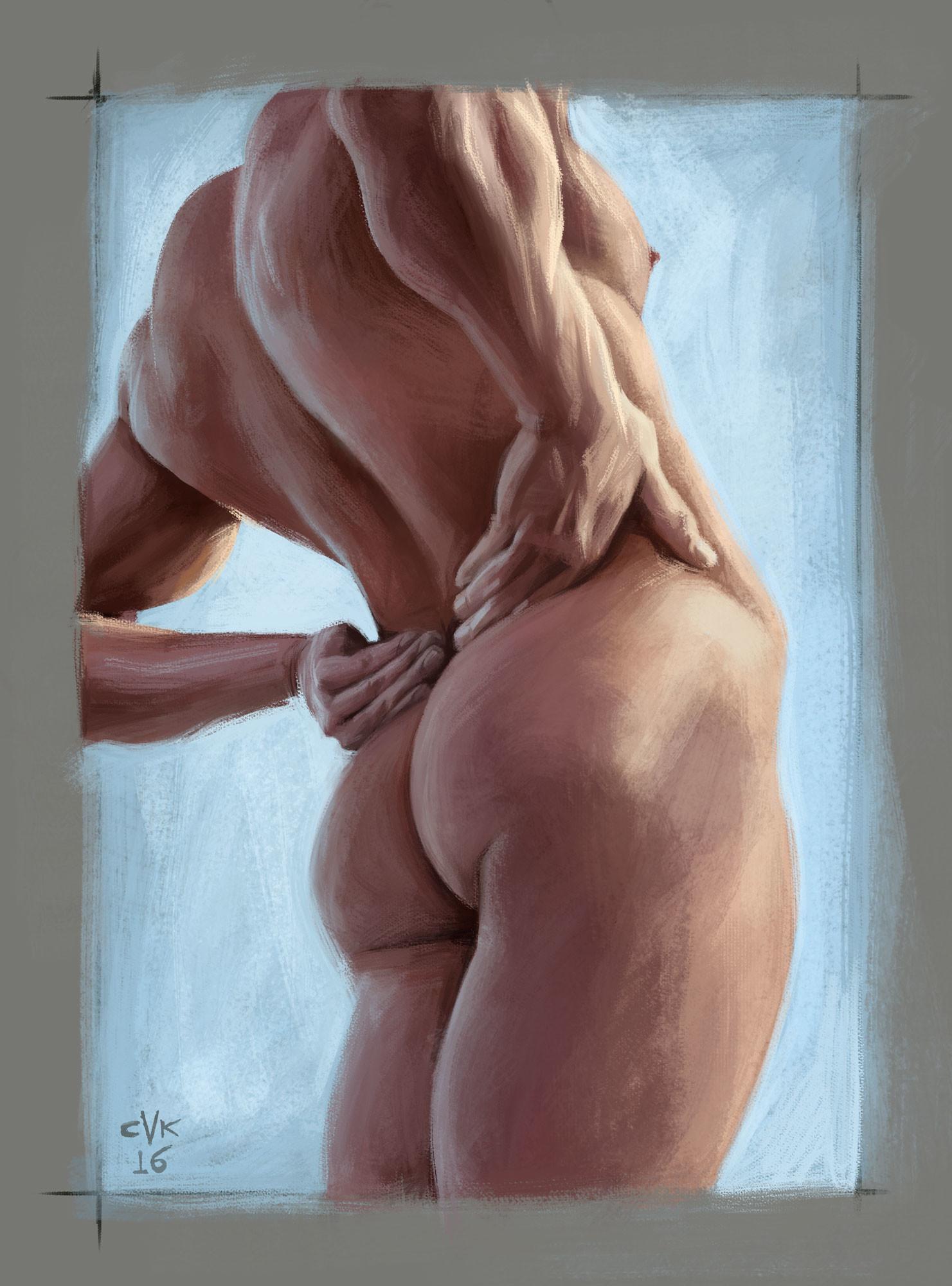 Male Figure. Digital.