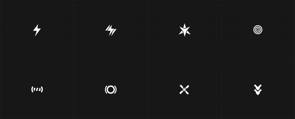 Weapon icons.