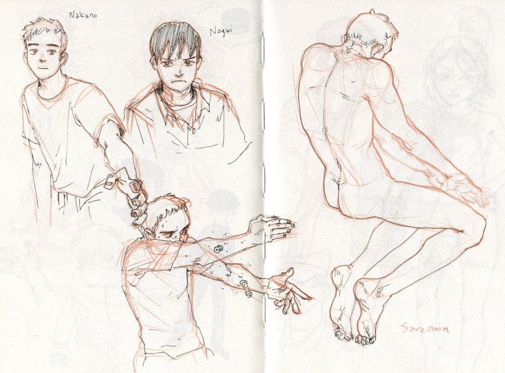 some characters from the manga Ajin