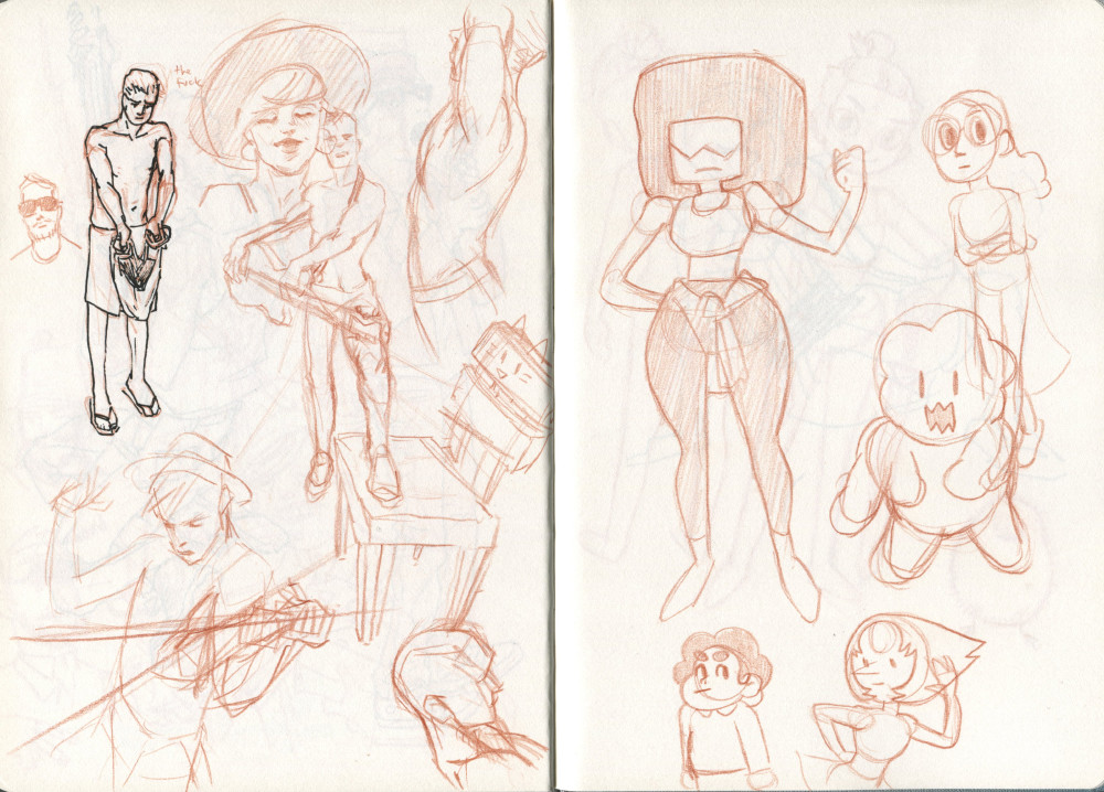 a bad page and steven universe sketches