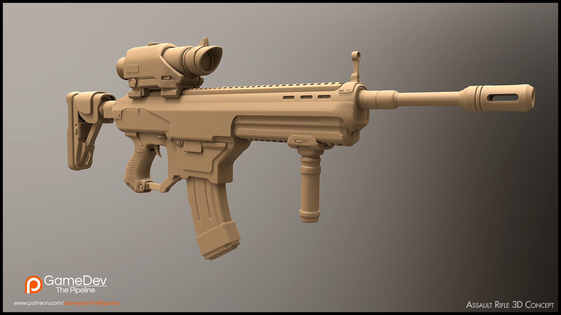 Aleksey sheludchenko assaultrifle3dconcept
