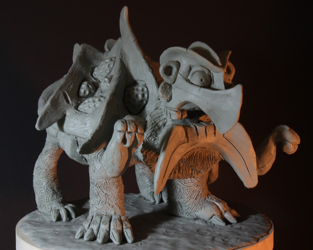 Rob mcdaniel 3dclay tarasque front