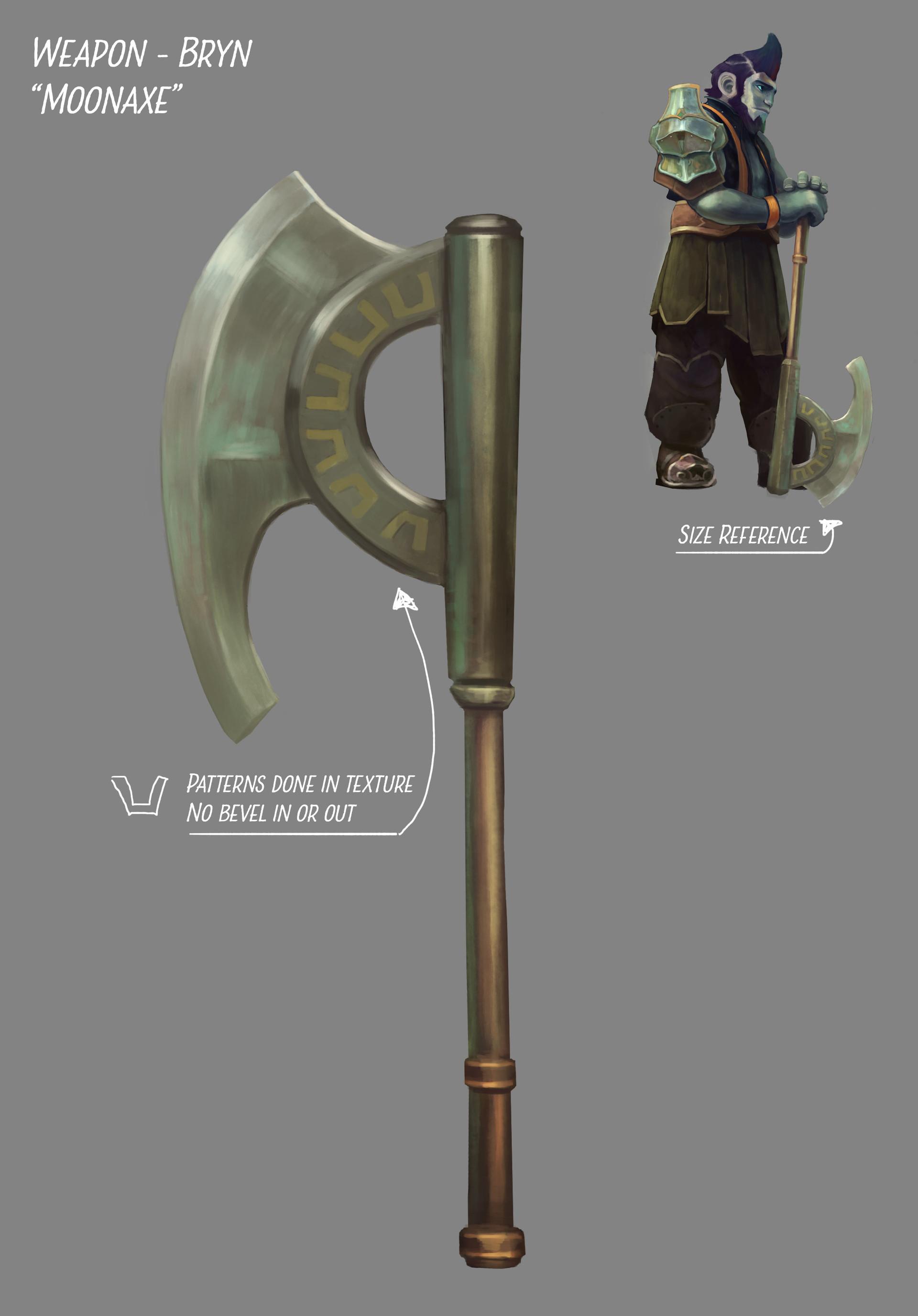 Fredrik dahl conceptart weapon bryn moonaxe
