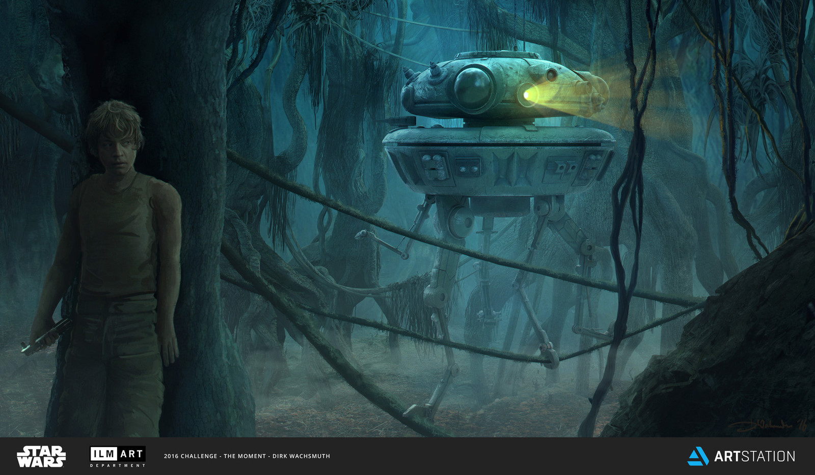 'Probe Droid on Dagobah'