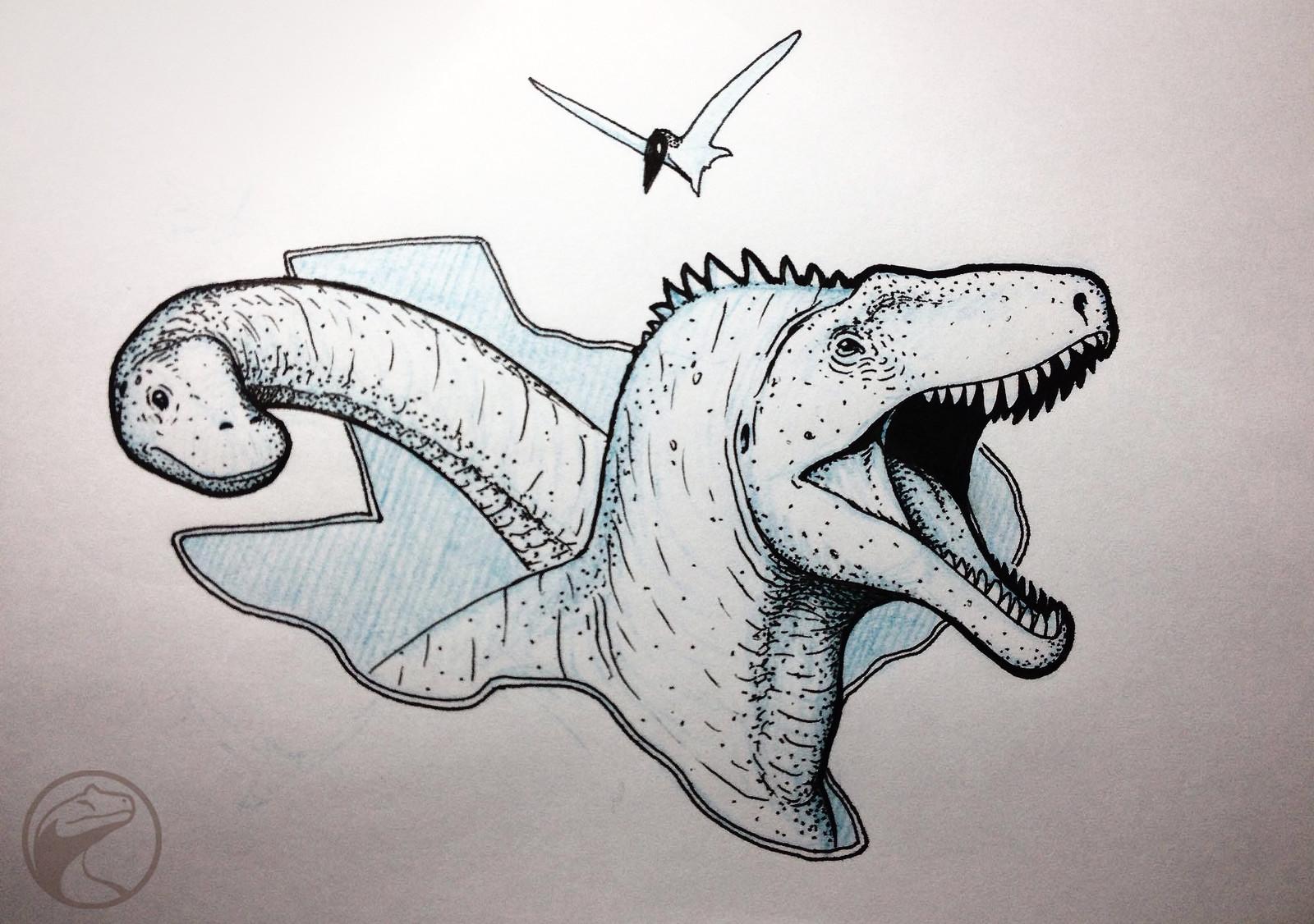 Texas Dinos: Acrocanthosaurus & Sauroposidon