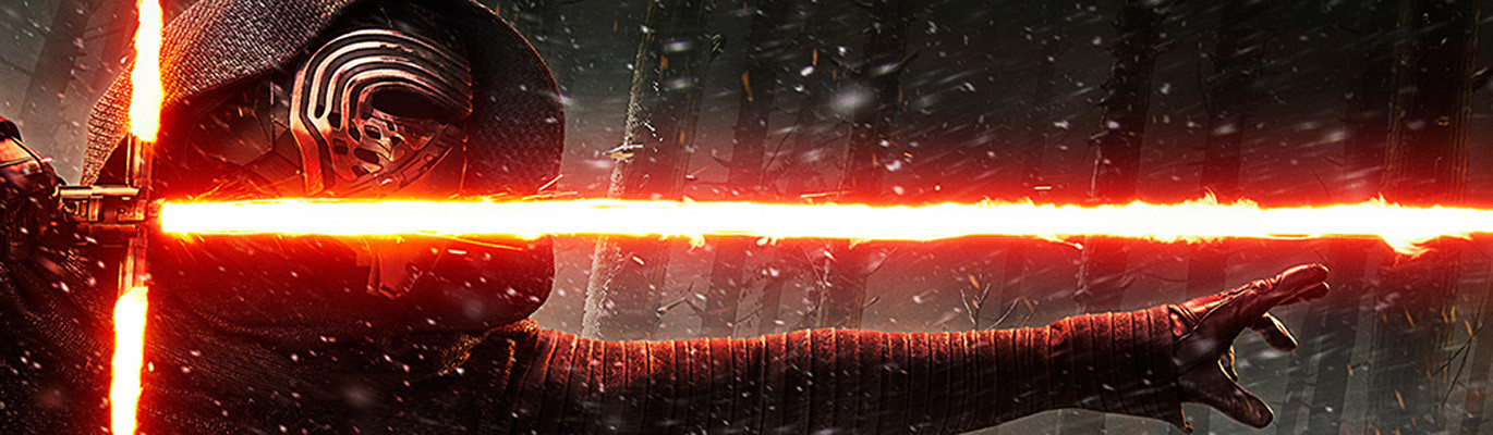Kylo Ren Billboard: Painted the lightsaber light hitting Kylo Ren and blowing snow in background.