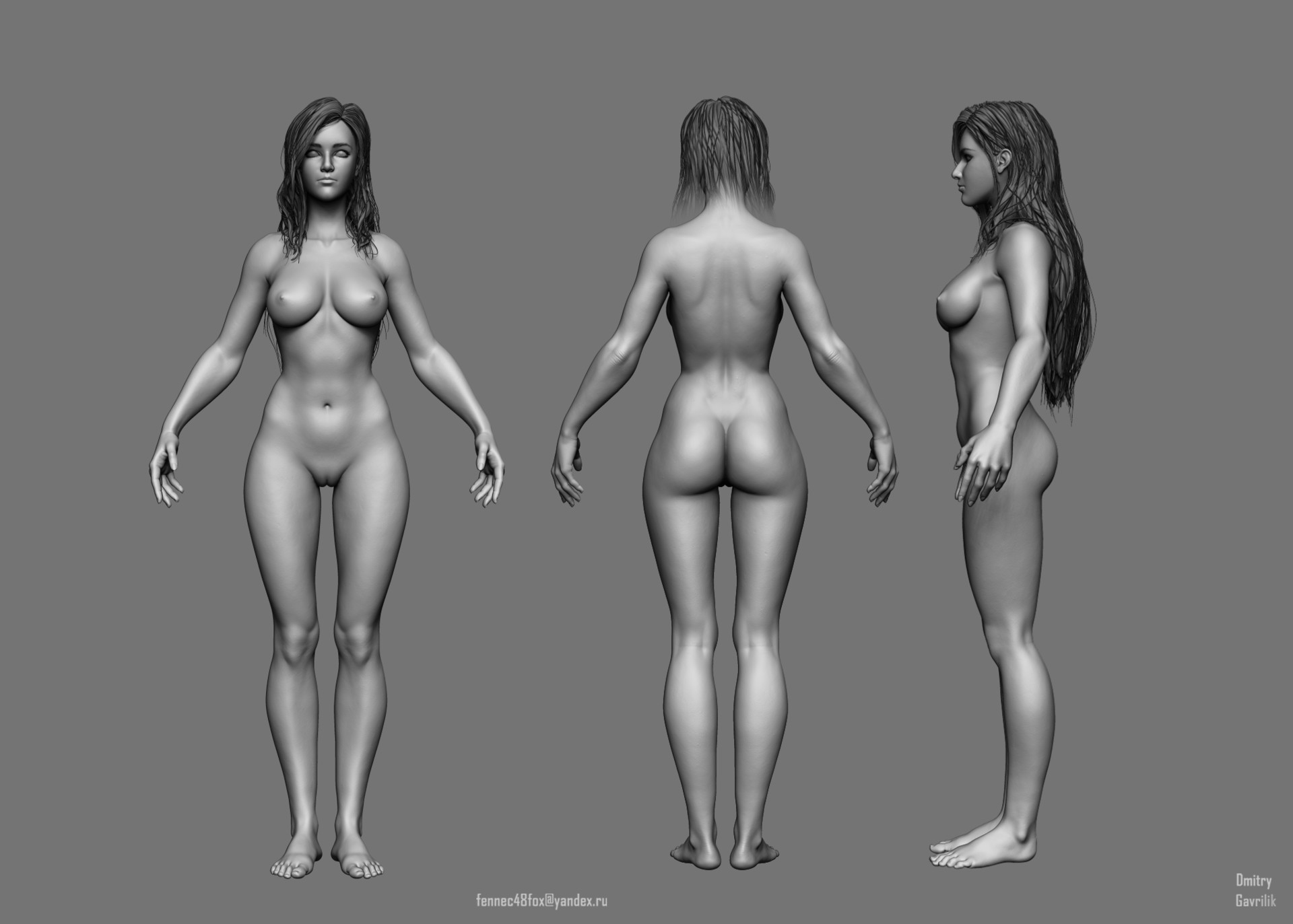 3d model girl nude final, sorry