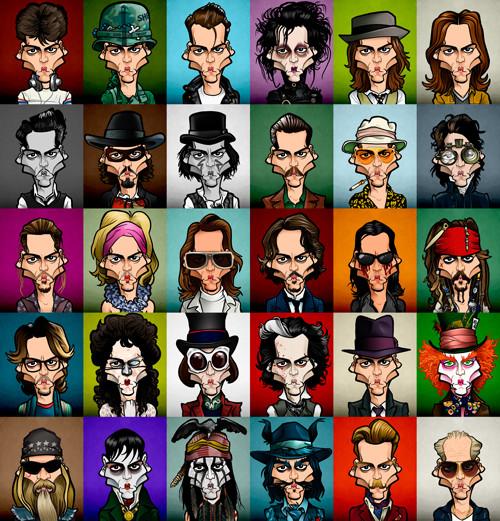 Updated 30 caricatures