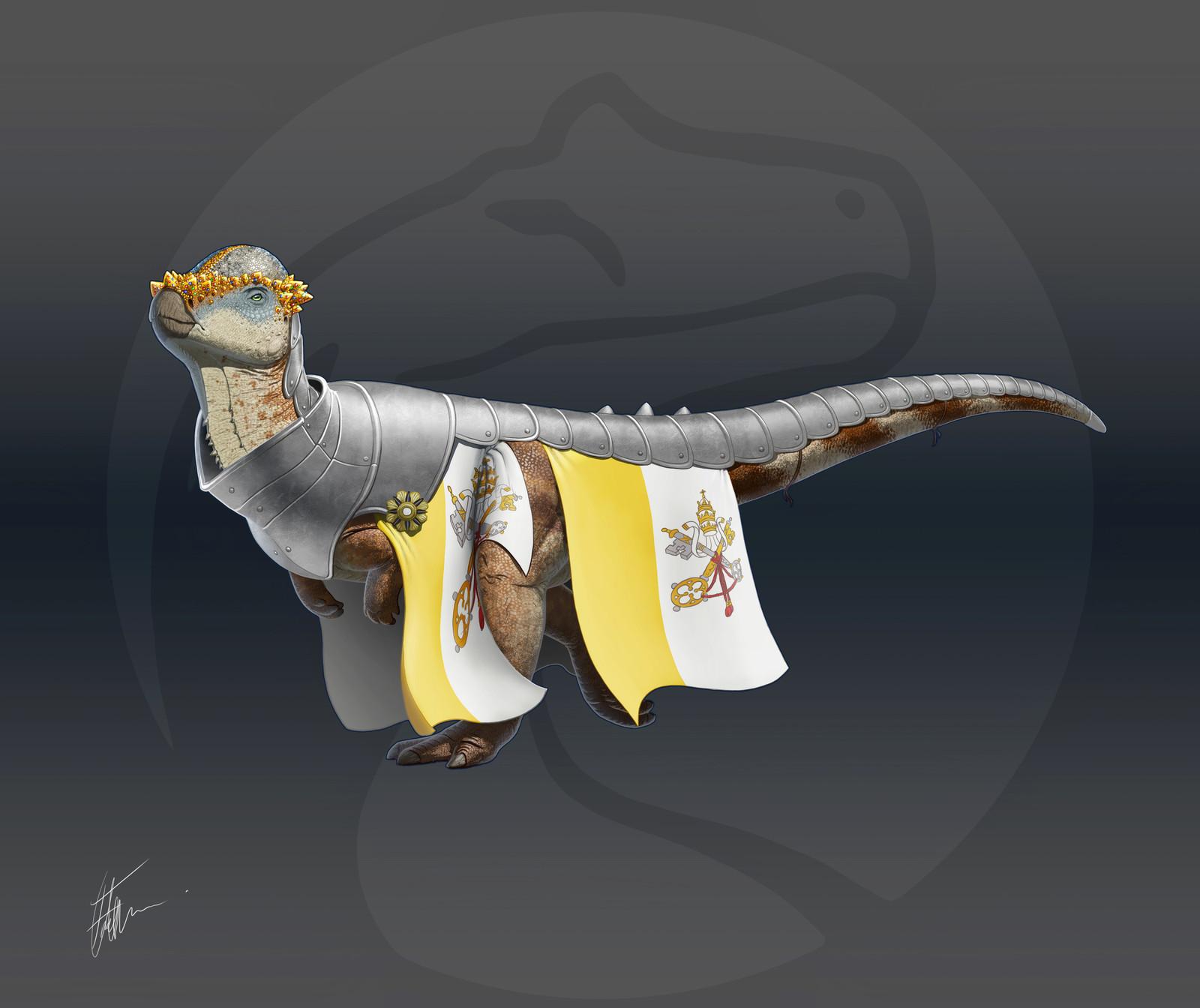 Armored Pachycephalosaurus
