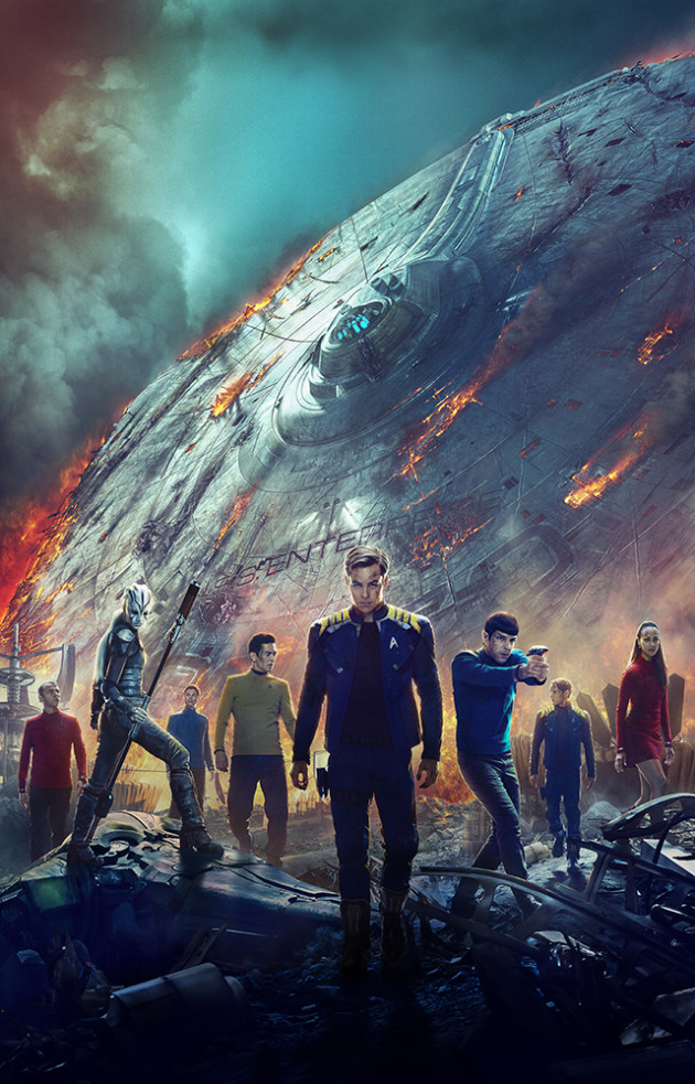 International Poster: I had the awesome job of painting all the fire, smoke and chaos to the Enterprise. I also painted the dirt and grime on the actors as well as integrating them onto the ground.