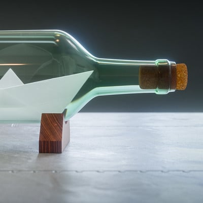 James mauger bottle ship