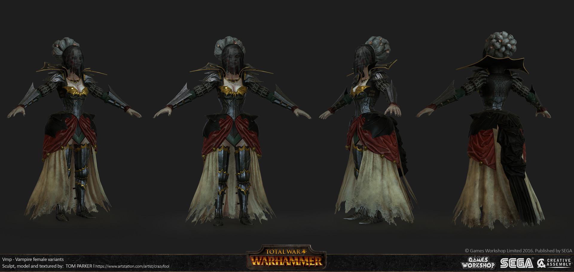 Tom Parker Total War Warhammer Female Vampires Variants