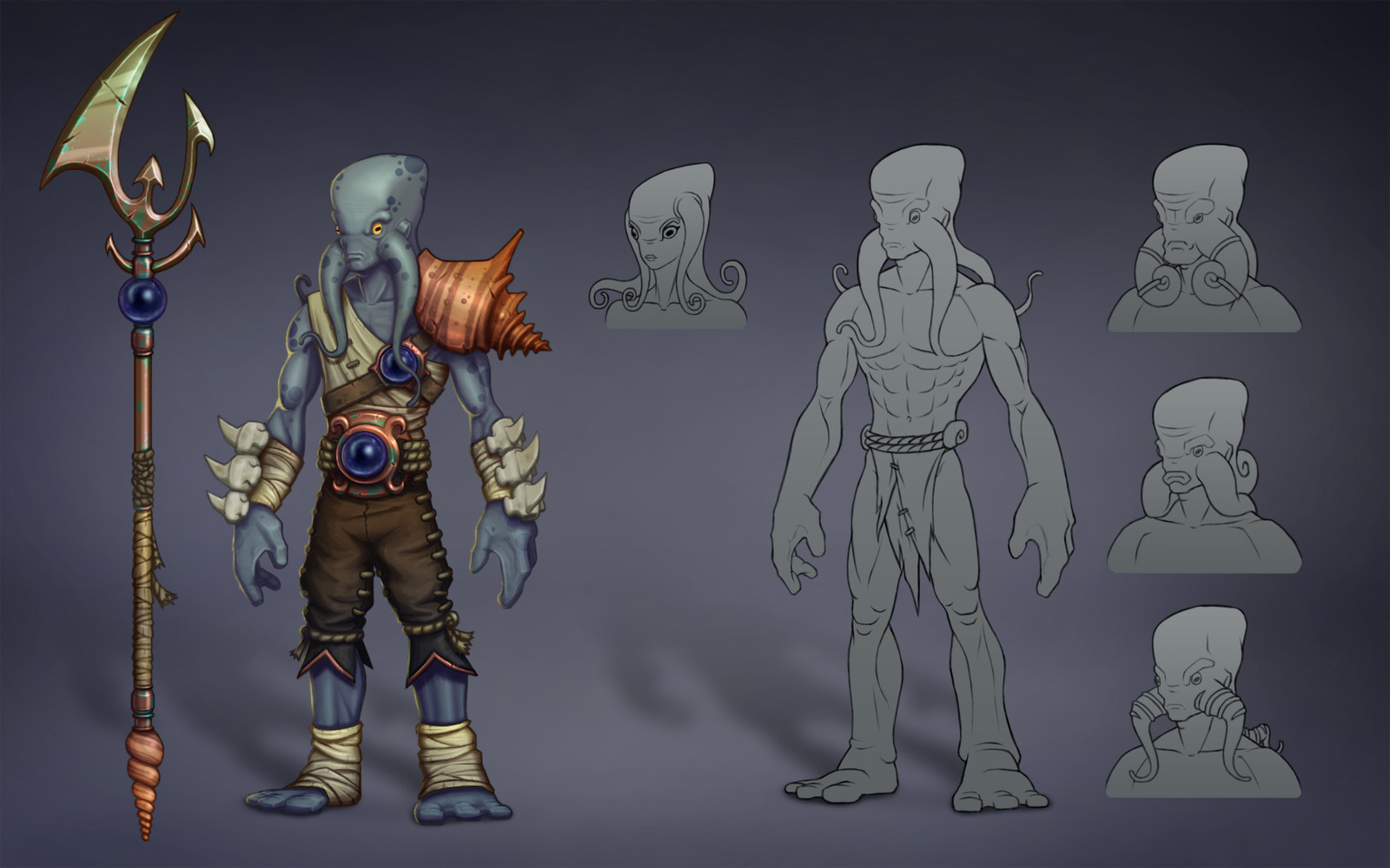 Stylized Concept of a Aquatic Race