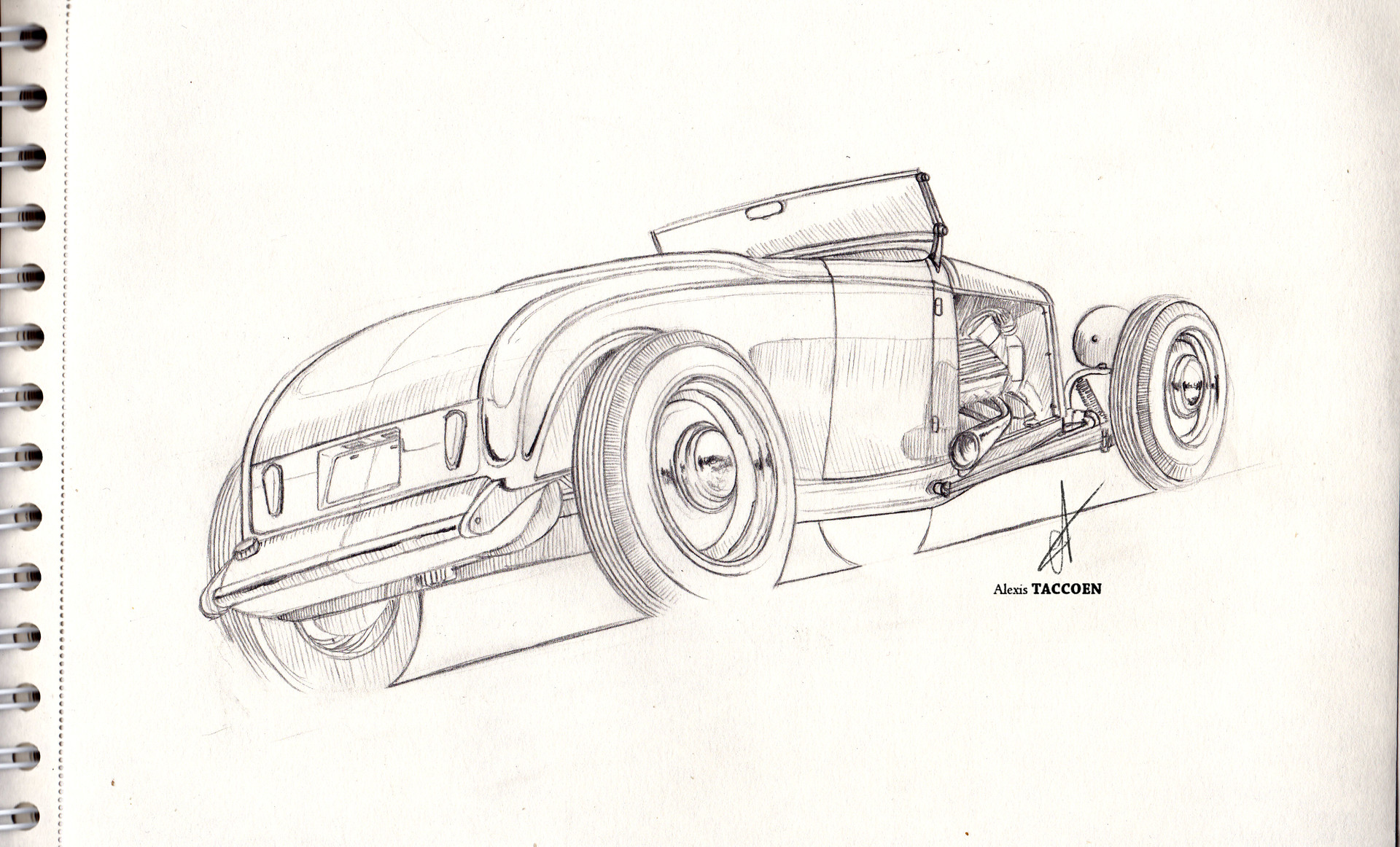 Alexis taccoen hot rod sketch
