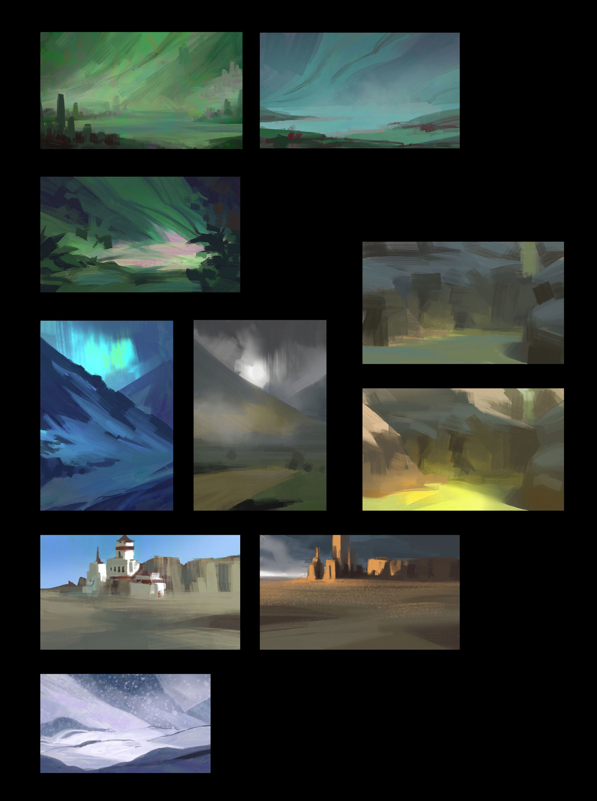 Landscapes color thumbnails