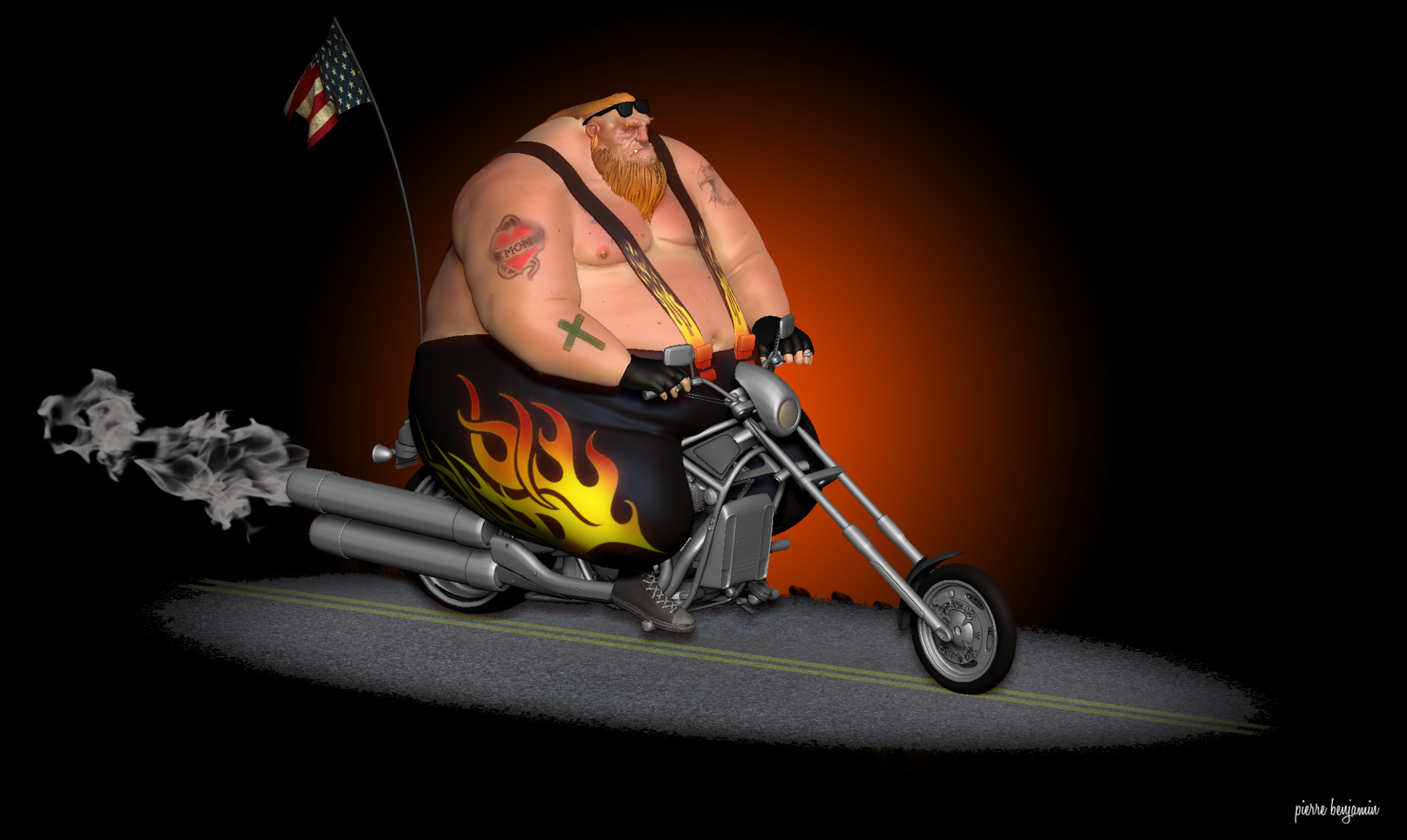 Pierre benjamin dude biker001