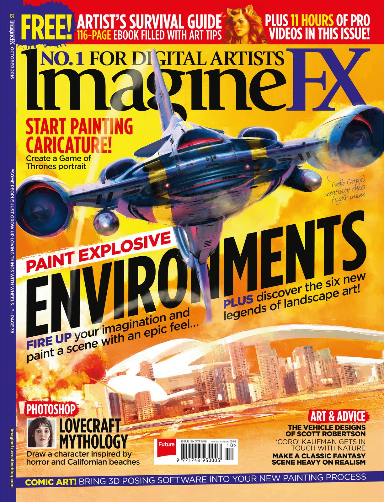 ImagineFX October 2016 Cover