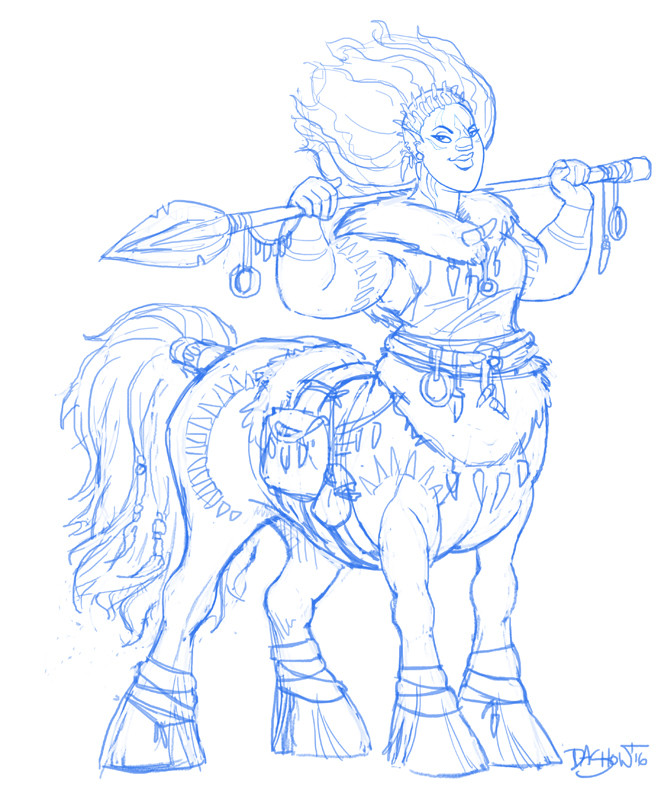 Michael dashow centaur 03 sketches