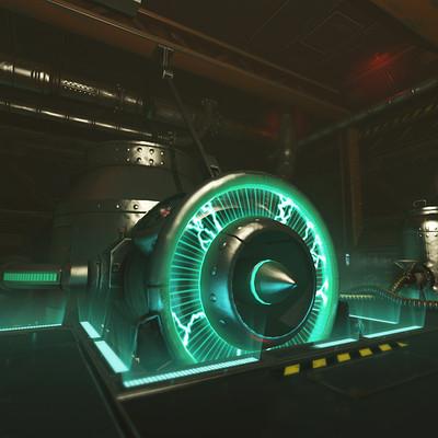 Old Spaceship's Power room (2016)