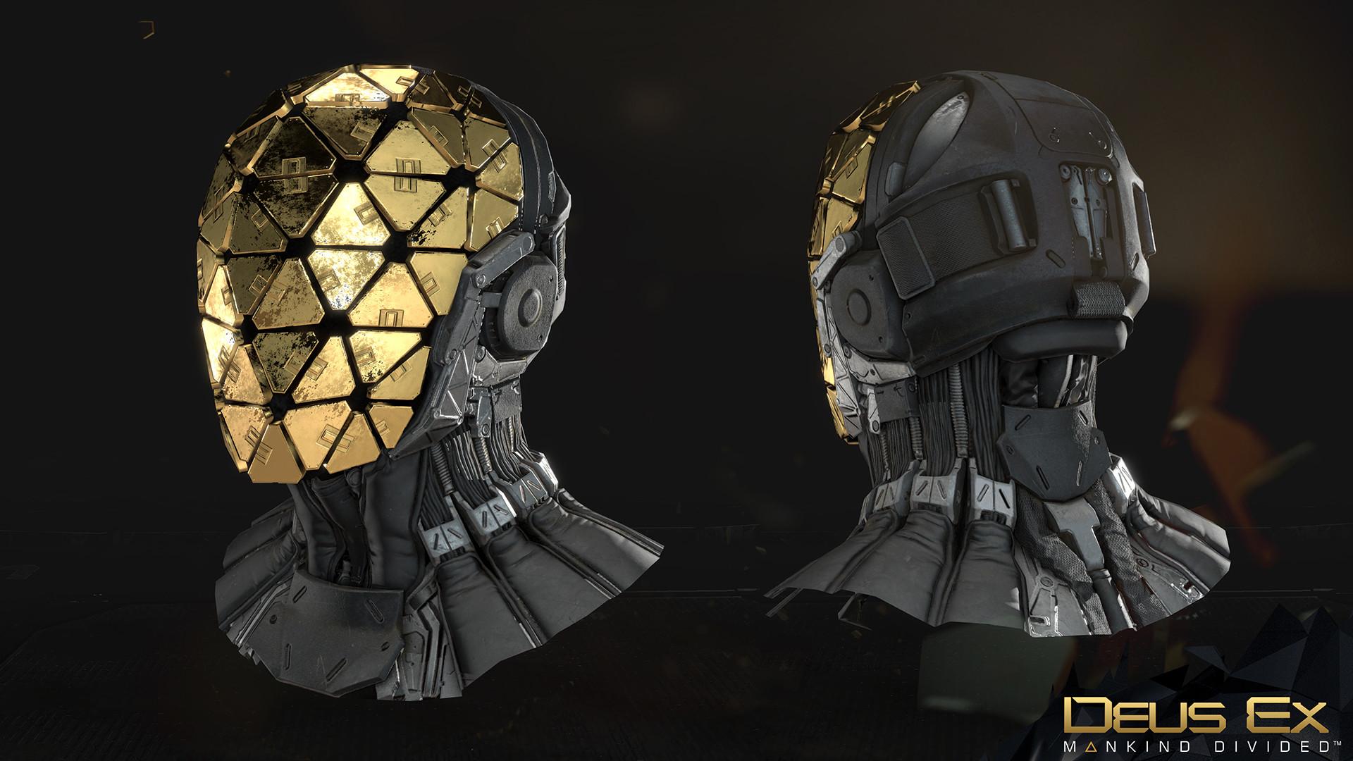 Artstation Deus Ex Mankind Divided Helmets Marco Plouffe