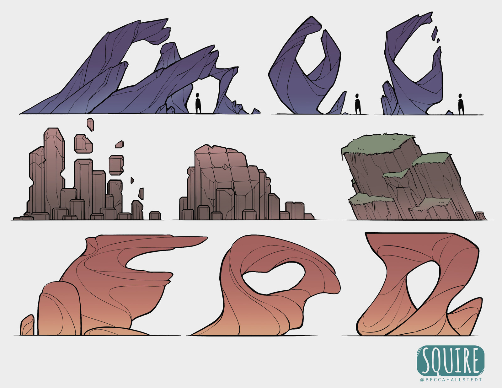 SQUIRE- Rock Formation Sketches