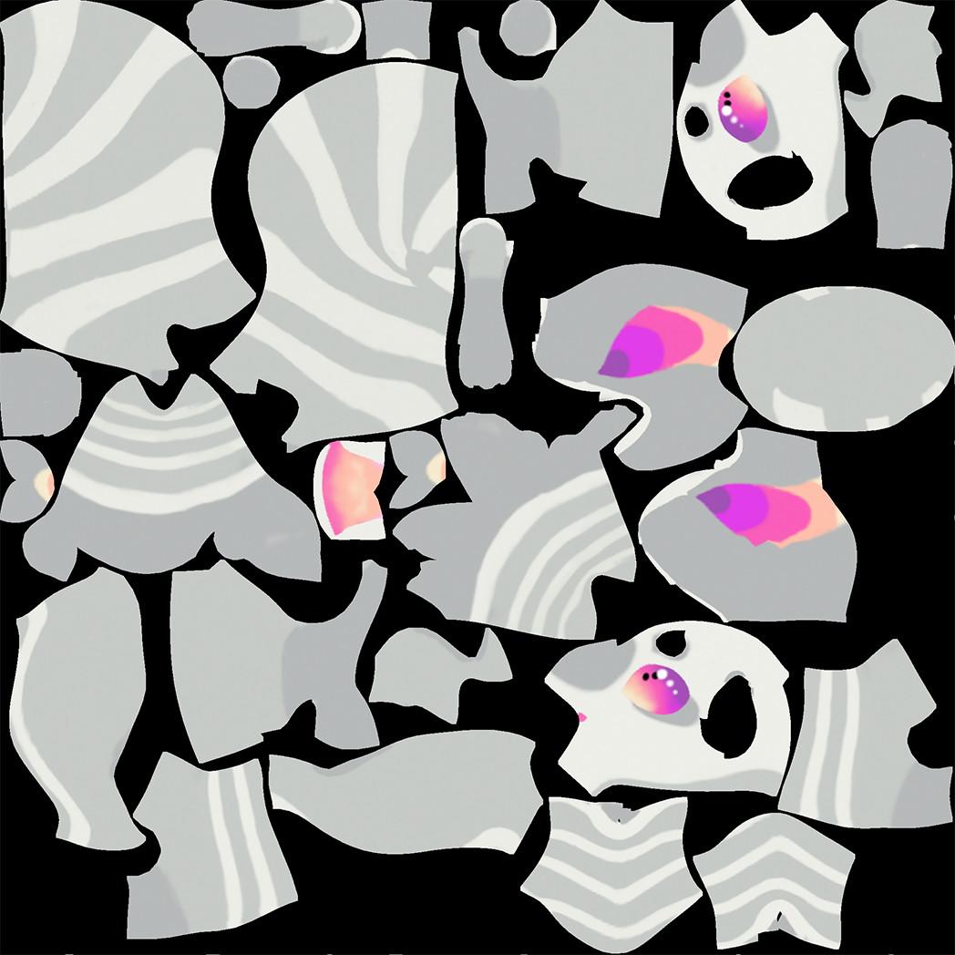 Singular Texture Map Used