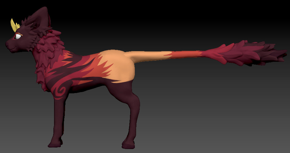zbrush: side view