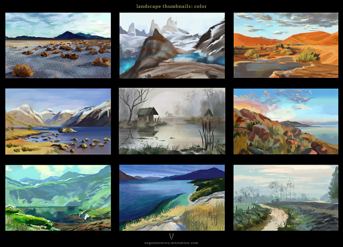 Eugenia vorontsova landscape thumbnails color by eugenia vorontsova