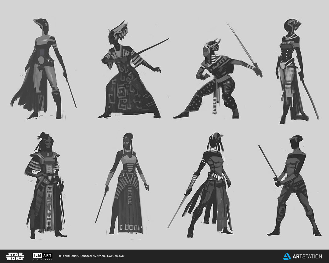 Swana figure sketches