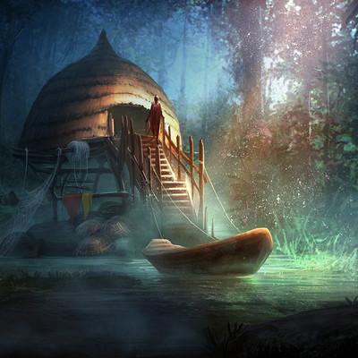 Godwin akpan fisherman house on a lake 2