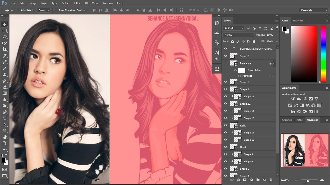 Photoshop vector image tutorial