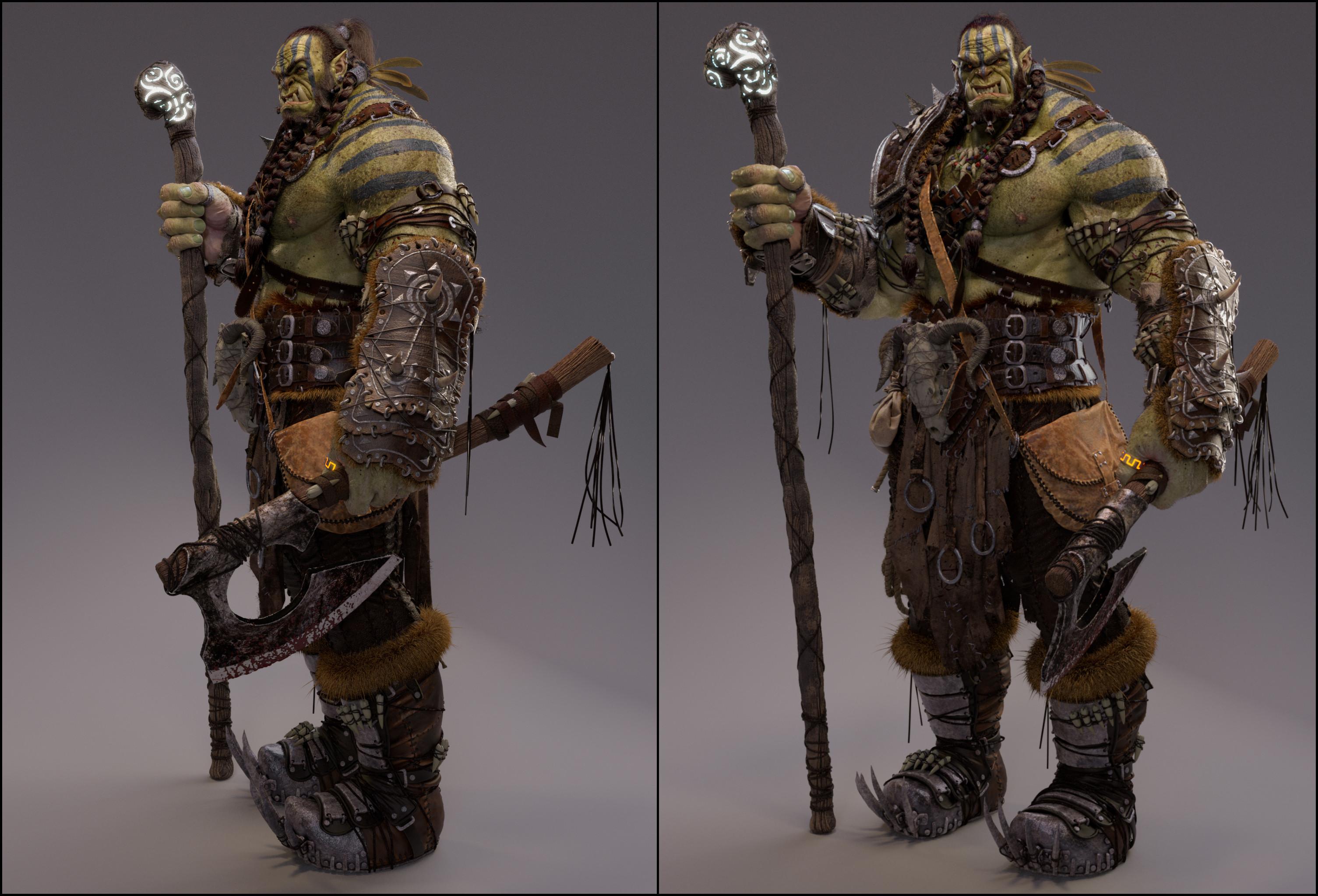 Orc warrior render 1