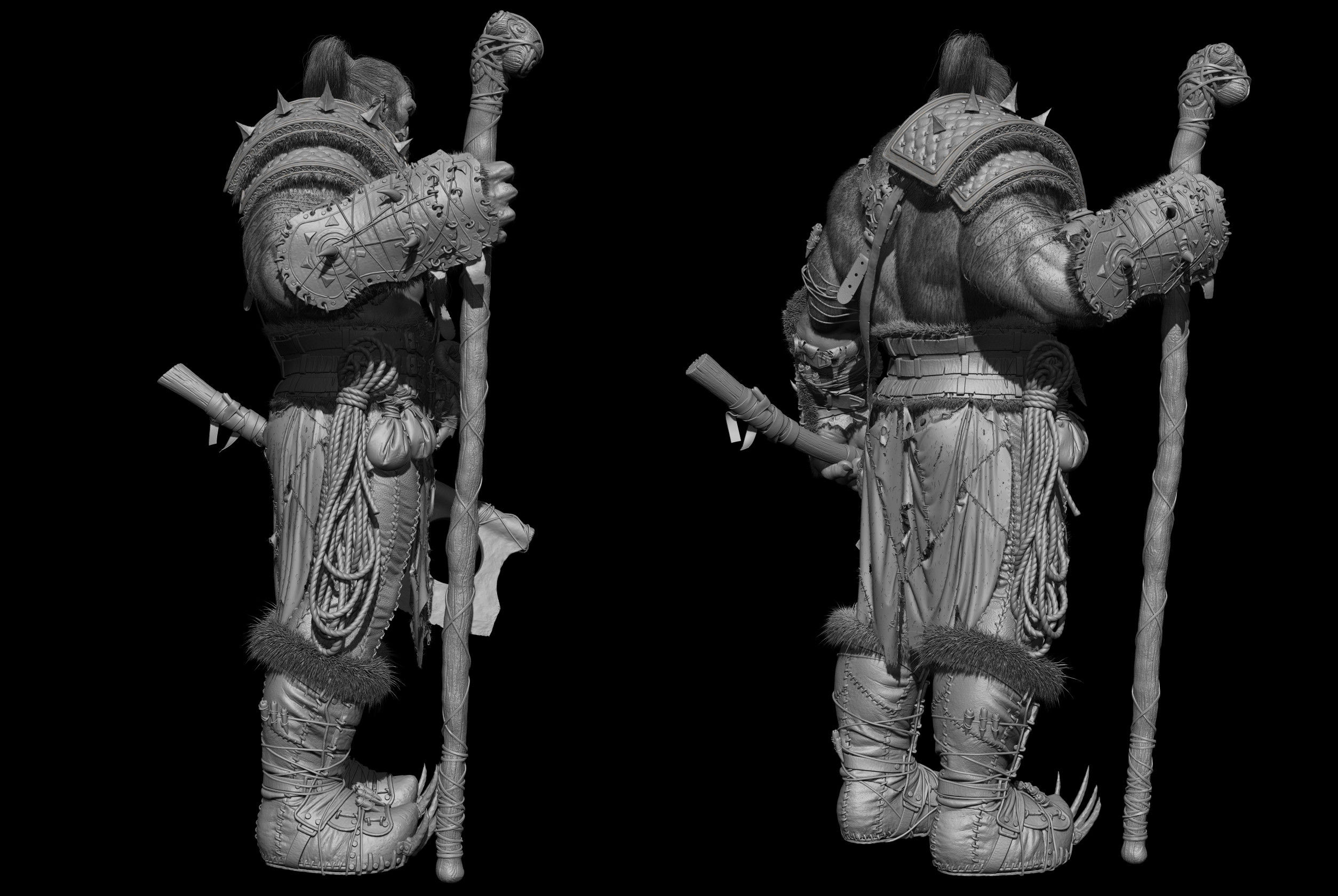 Orc warrior Zbrush screen 2