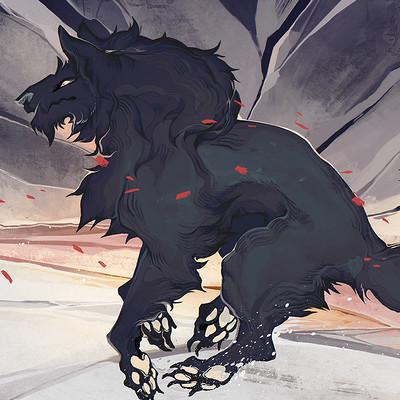 Liger inuzuka wolf sketch 1900