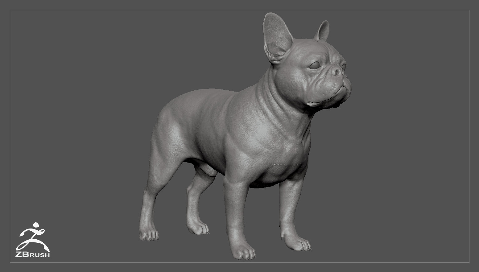 Alex lashko frenchbulldog by alexlashko zbrush 01