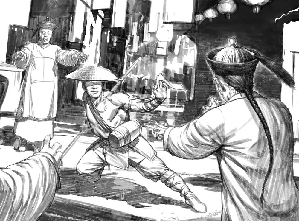Darren tan vh chinesevampirehunter sketch 01