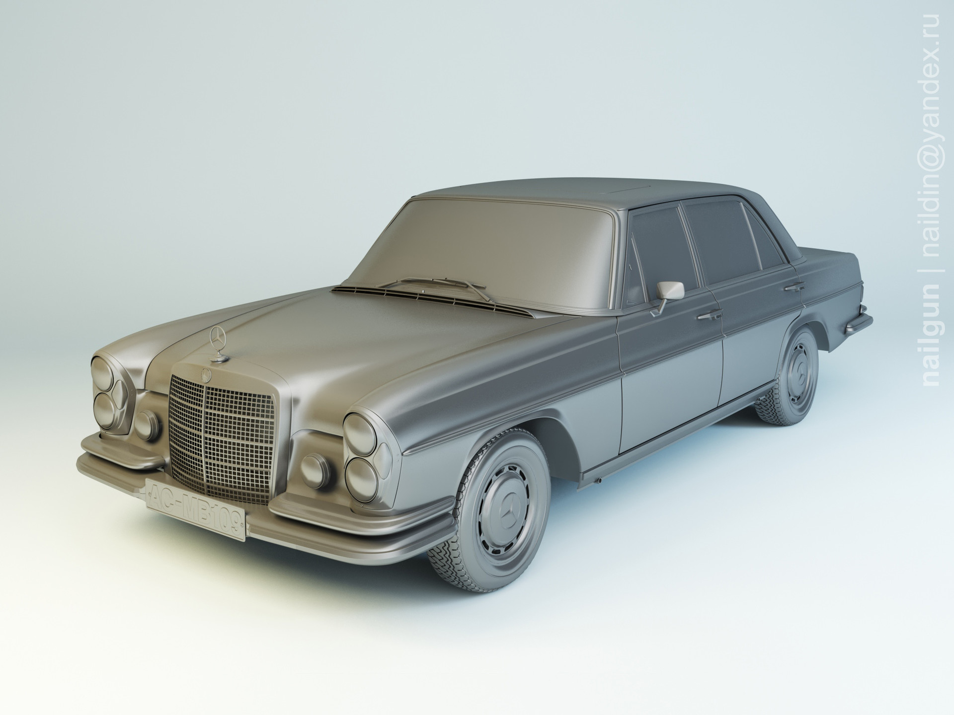 Nail khusnutdinov pwc 077 002 mercedes w109 modelling 0