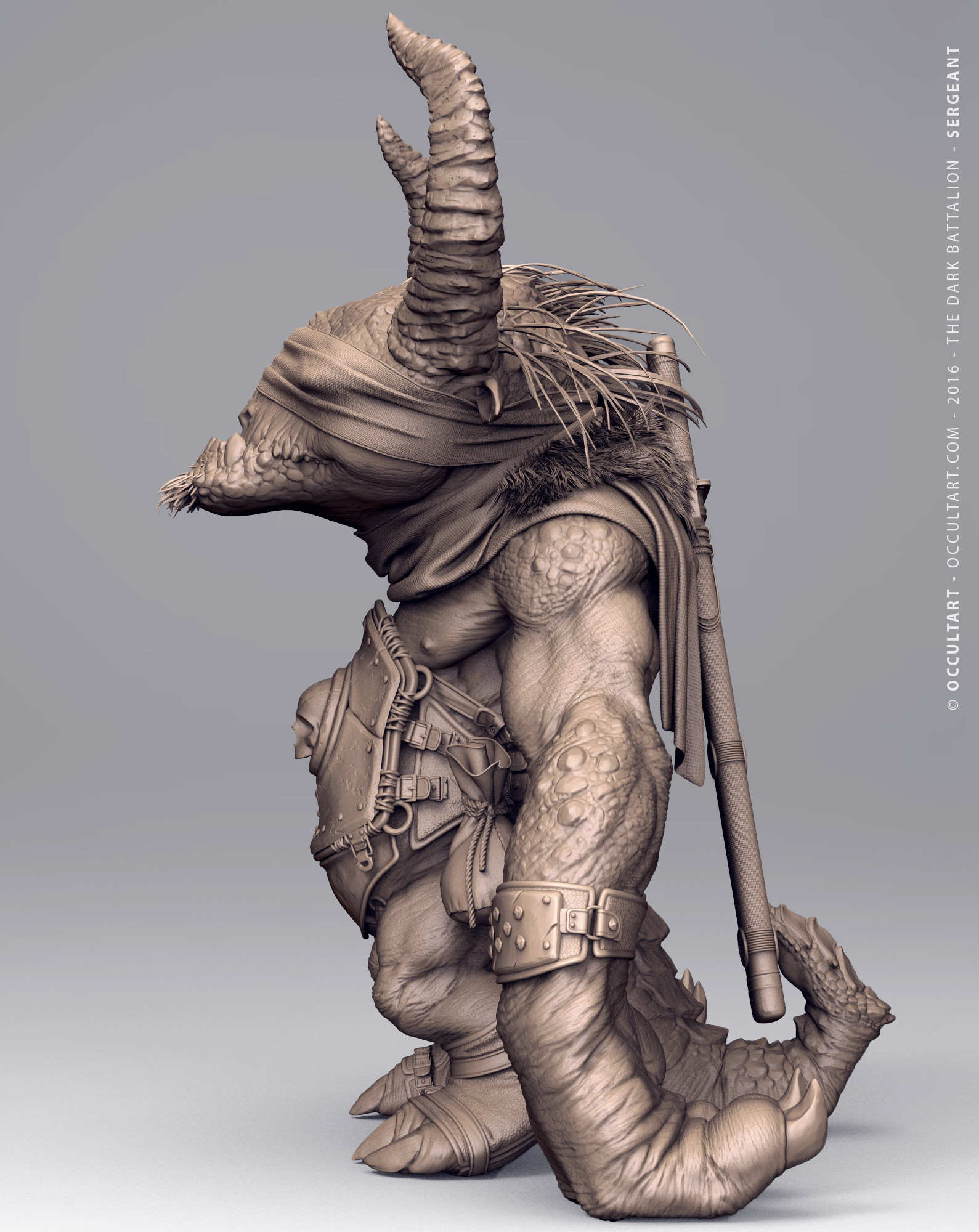 Occultart   sergeant clay zbrush unposed 53