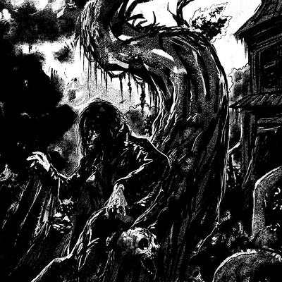Sal vador thedarkcloak monochrome graveyard forweb